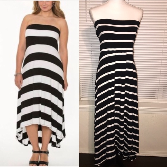Lane Bryant Plus Size Striped Maxi Dress 14/16